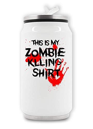LukeTee This My Zombie Killing Shirt Blood Hand Thermische drankdoos