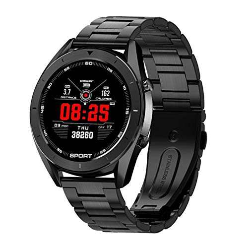 AKY DT99 Smart Watch, Ladies Men Bluetooth Impermeable Impermeable Fitness Fitness Tracker Rate Cardy Pase Sleep Tracking para iOS Android,B
