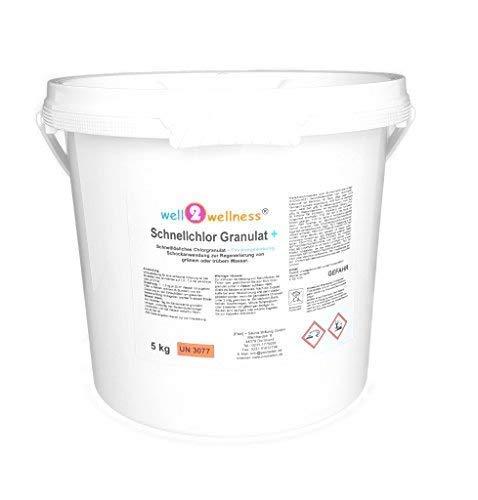 well2wellness Schnellchlor Granulat+ (schnell lösliches Chlorgranulat 60% + Flockmittel) 5,0 kg