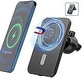 LUOWAN 15W con Supporto per Caricabatteria da Auto Wireless Magnetico con Supporto per Telefono per Auto con Caricatore Wireless Magsafe a Ricarica Rapida per iPhone 12/12 PRO Max Mini