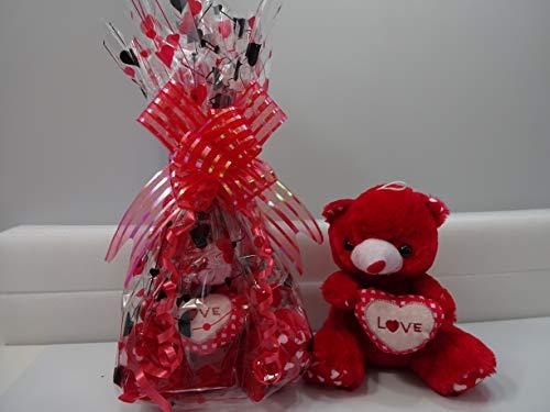 Glory Cosmetics - Cesta de regalo para el día de San Valentín, cumpleaños y Navidad, diseño de oso de peluche