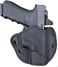 1791 GUNLEATHER Optic Ready Holster - OWB CCW G19 Holster - Right Handed Leather Gun Holster for Belts - Compatible for Glock 19, 23, 27, Springfield XDS