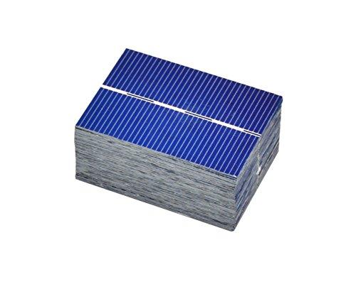Aoshike 100Pcs Micro mini Solar Panel Solar Cells 0.5V 0.35W Module Solar Battery Charger DIY 39x52MM Polycrystalline Silicon Photovoltaic Solar panels Sun power Cells