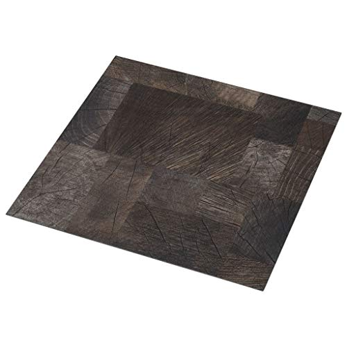 vidaXL PVC Laminat Dielen Selbstklebend Vinylboden Vinyl Boden Planken Bodenbelag Fußboden Designboden Dielenboden 5,11m² Holzoptik Braun