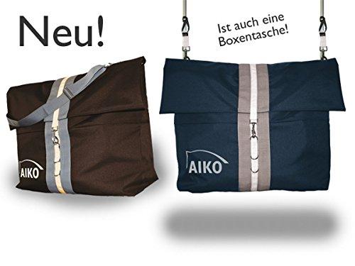 Aiko Multifunktionelle Riesentasche, Boxentasche, Schabrackentasche - 80x60cm, mit Zubehör (Mocca)
