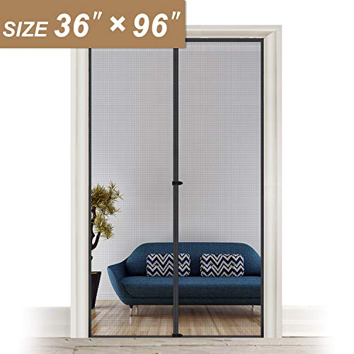 Screen Doors with Magnets 36 x 96, Heavy Duty Mosquito Door Net Fit Doors Size Up to 36