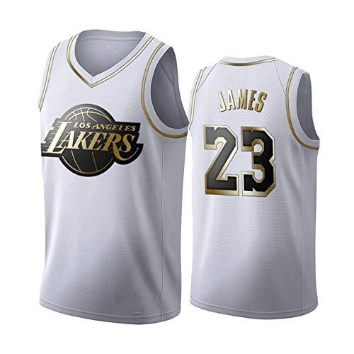 Camiseta de baloncesto de los Lakers NBA NO.23 NO.24 Malla sin mangas Deportiva Cómoda, fresca, transpirable, color negro Camiseta de baloncesto de edición conmemorativa