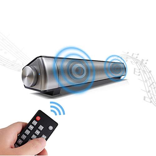 XGLL Barra de Sonido con subwoofer para TV, 2,0 Canal de Cine en casa Altavoz Bluetooth Sistema de Sonido Envolvente, Doble Altavoz Control Remoto