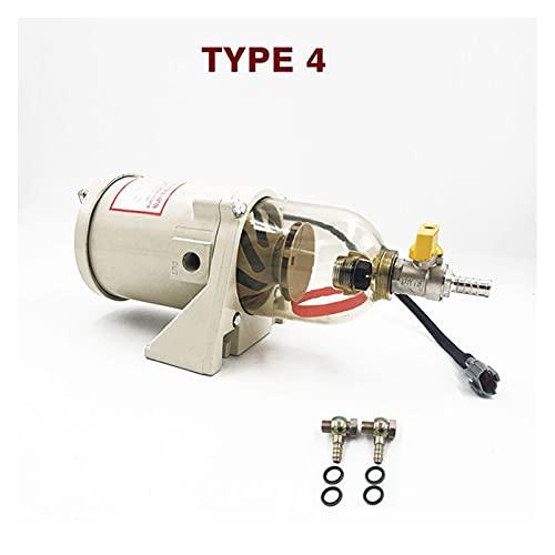 HEQIE-YONGP Filtro de Aire, 50 0FG Filtro de Motor Diesel de turbina, 50 0FH Separador de Agua de Combustible con 201 0PM Tubo de calefacción 1 2V / 24V Calentador + Junta + Válvula (Color : Type 4)