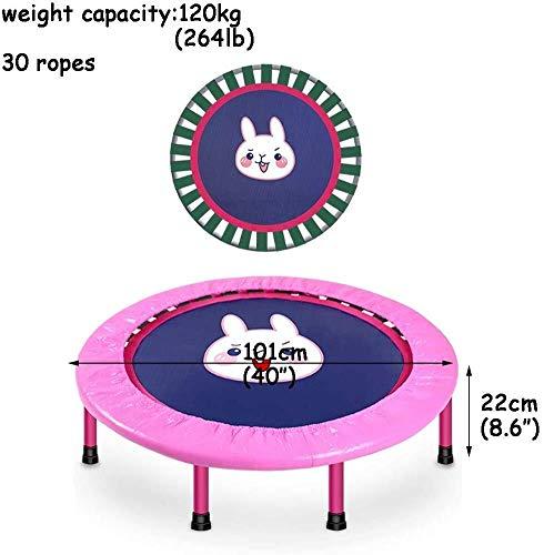 Kleine trampoline Veiligheid en duurzaam Peuter Trampoline, opvouwbaar Bungee Trampoline Trampoline Binnen/Buiten Maximum ø 40inch Gewicht Capaciteit 264lbs kinderen trampoline