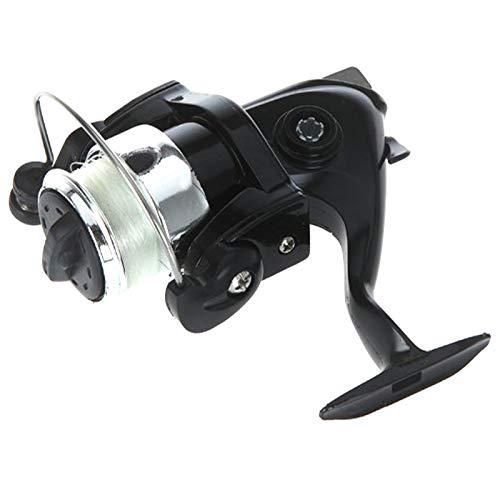 Lixada Mini Caña de Pesca Similar Bolígrafo de Aluminio Tamaño de Bolsillo Carrete de Pesca Incluido