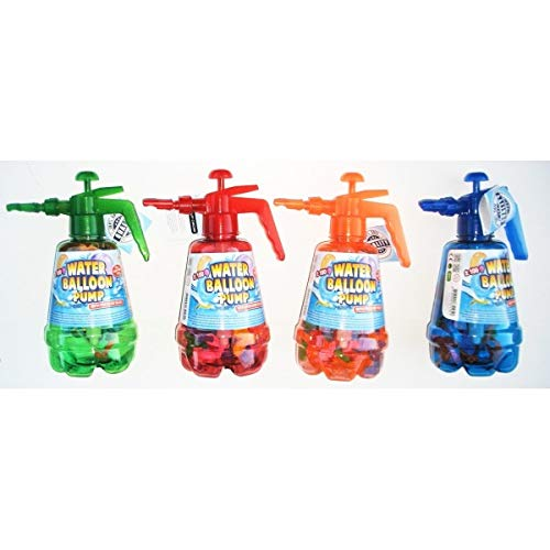 KSS Wasserbomben Füllflasche + 100 Wasserbomben + Wasserpistole ,Pumpe , Füllstation