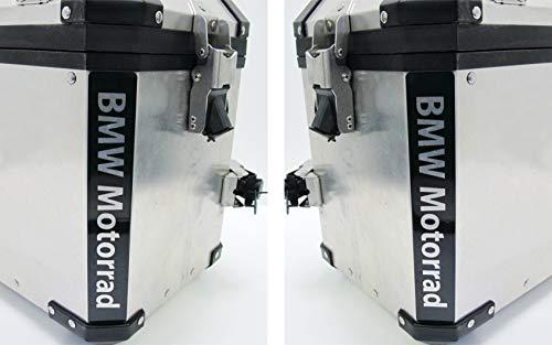 2pcs Reflectantes Adhesivos Motorrad R 1200 1150 F 800 650 F700 GS A R1200GS R1200 Touratech Motorcycle Aluminium Panniers Bolsas Laterales (Black)