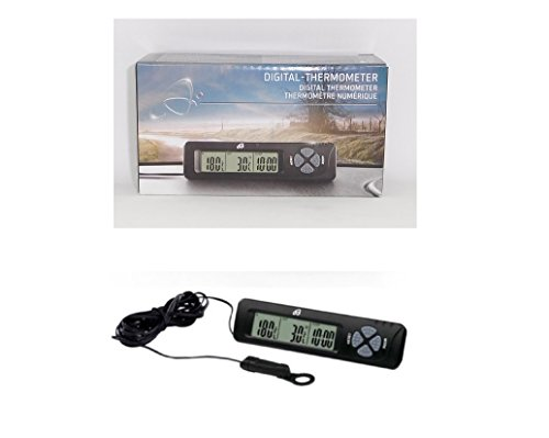Thermomètre digital intérieur extérieur - Numérique Température - Noir - 083