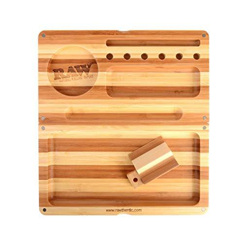 RAW Rolltablett gestreift, limitierte Auflage, magnetisch verschließbar, beige, Backflip
