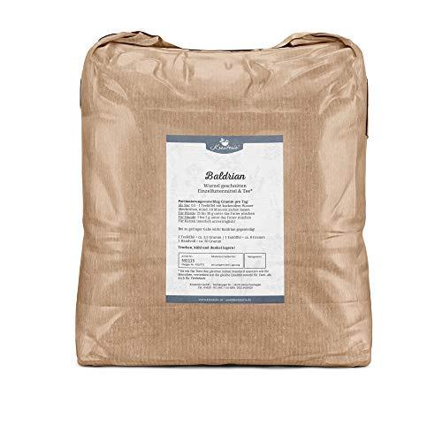 Krauterie Baldrian-Wurzel Geschnitten in Sehr Hochwertiger Qualität, frei von jeglichen Zusätzen, als Tee oder für Pferde und Hunde (Valeriana officinale) – 5000 g