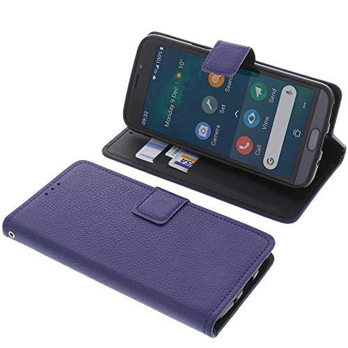 foto-kontor Tasche für Doro 8050 Book Style blau Schutz Hülle Buch