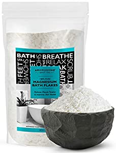 SOOTHE TIRED MUSCLES STOP RESTLESS LEG SYNDROME - Dissolve these Pure Sea mineral magnesium chloride flakes crystals in your bathtub to give your overworked muscles the TLC they need, magnesium chloride Bath flakes is much better suited for topical a...