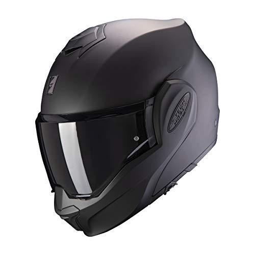 Scorpion Herren EXO-TECH SOLID Matt Black M Motorcycle Helmets, M