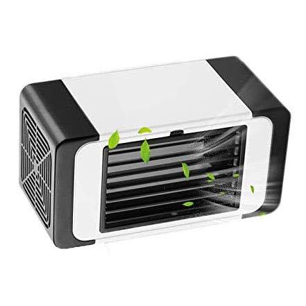 GODLV Mini Air Cooler airconditioning woning luchtkoeler mini USB-aansluiting draagbare luchtkoeler luchtreiniger voor kantoor slaapkamer thuis camping met USB-tafellamp