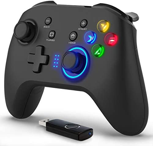 Forty4 Wireless Gaming Controller Dual Vibration Joystick Gamepad Computer Game Controller for product image