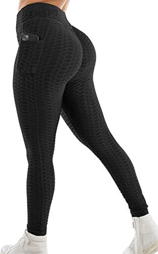 GYMSPT High Waisted Yoga Pants with Pockets for Women, Tummy Control Scrunch Butt Lifting Workout Leggings Booty Tights