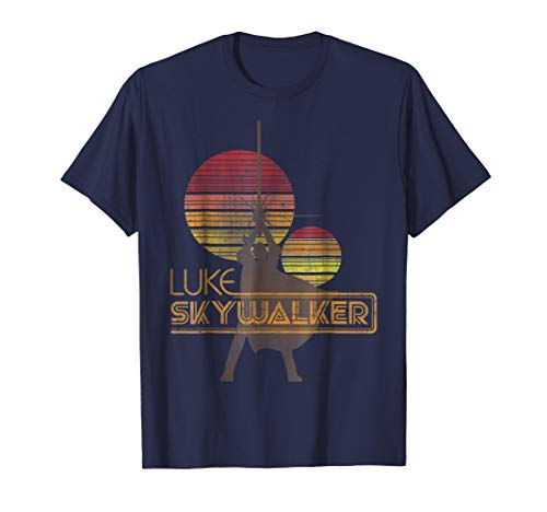 Star Wars Retro Luke Skywalker Silhouette Suns T-Shirt