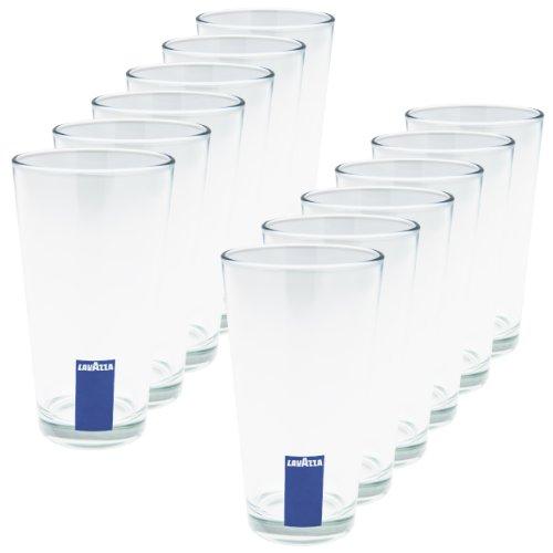 Lavazza Blu Collection Hohes Latte Macchiato Glas, 12er Pack, Becher, Transparent , 380 ml, 20003306
