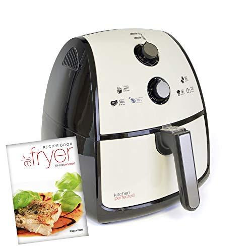 Kitchen Perfected® 4L XL Family Sized AIROFRYER - Portable Fryer / Grill / Oven / Steamer Uses 80% Less Oil. 1500w Extra Large Power Air Fryer in Ivory White.