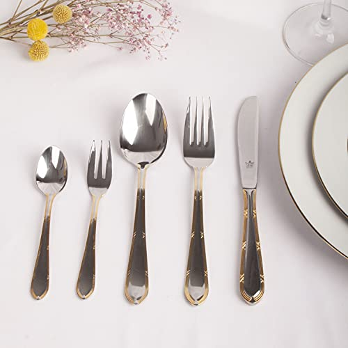 Franquihogar - Set de cubiertos acero inoxidable 18/10 pulido, cubertería