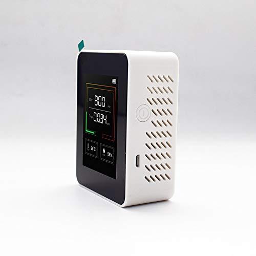 CO2 Messgerät KKmoon K03 CO2 Melder Kohlendioxid Detektor C02-/TOVC-/Temperatur-/Feuchtigkeitsprüf Haushaltsluftqualitätsdetektor mit Batterie