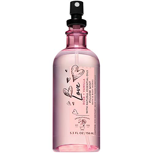 Bath and Body Works Aromatherapy LOVE - ROSE + VANILLA Pillow Mist with Natural Essential Oils 5.3 Fluid Ounce