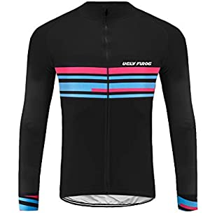 Uglyfrog Newest Designs of September Mens Cycling Clothes, Long Sleeve Cycle Tops, Mountain Bike/MTB Shirt, Reflective Biking Bicycle Clothes, Great Cyclist Gifts -High Visible and Quick Dry