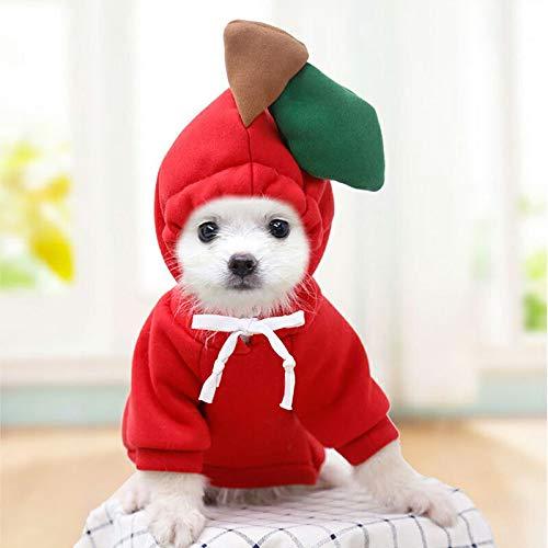 2020秋服 犬服 ブランド かわいい PETFiND 犬 犬の服 秋冬 コスプレパーカー りんご バナナ ニンジン にわとり M,りんご M,りんご M,りんご