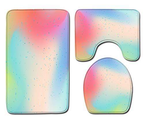 Badmat Kleed 3-Delige Set Fantasy Regenboog Print Toiletbril Cover Badmat Deksel Cover Badmat Family Home Decor