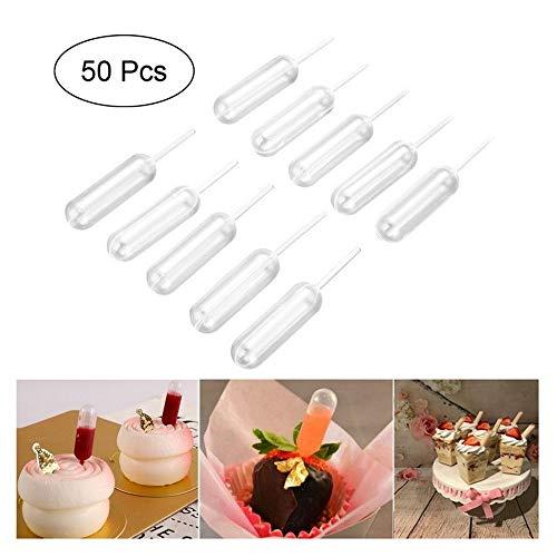 CGS2 4ml Verwijderbare Transfer Pipetten Droppers Voor Cupcakes Ice Cream Saus Ketchup Jam Gebak Macaron Gevulde Dispenser 50 stks Handgemaakt gereedschap