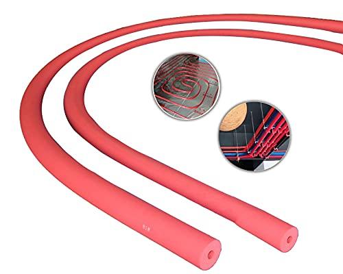 Aislamiento de tuberia de Espuma,Rojo/Azul,ID 6-60mm Tubo De Aislamiento De Polietileno,Anticongelante Ignífugo Aislante Tubo,para Tubos Fríos O Calientes,2 Piezas (Color : Red, Size : 16mmx9mmx2m)