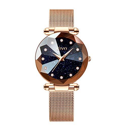 Vrouwen horloges dames rvs mesh riem waterdichte horloges voor vrouw meisjes tiener mode elegante zakelijke jurk analoge quartz polshorloge,A