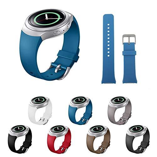 Pulseira Silicone para Samsung Gear S2 Sport R720 - Marca Ltimports (Azul)