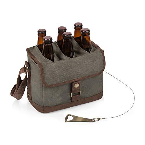 6-Bottle Beer Caddy with Bottle Opener