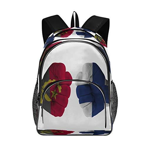 Backpacks for Elementary Angola Vs Finland Fist Designer School Bag Bookbag for Kids Boys Girls