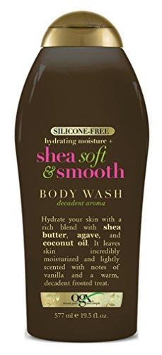 Ogx Body Wash Shea Soft & Smooth 19.5 Ounce (577ml) (3 Pack)