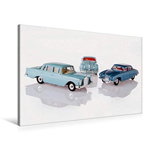 Calvendo Premium Textil-Leinwand 90 cm x 60 cm quer, Dinky Toys Spielzeugautos | Wandbild, Bild auf Keilrahmen, Fertigbild auf echter Leinwand, Leinwanddruck: Atlantic/Jaguar Mark X Hobbys Hobbys