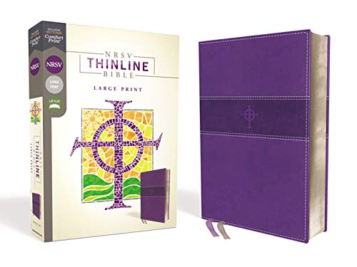 Compare Textbook Prices for NRSV, Thinline Bible, Large Print, Leathersoft, Purple, Comfort Print Large Print Edition ISBN 9780310452508 by Zondervan