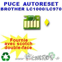 AutorESET - Chip Auto-Reset Brother LC1000/970, color amarillo