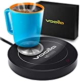 Coffee Cup Warmer with Aluminum Pad for Concave Mugs – Coffee Cup Warmer for Desk with Automatic Turn On/Off - Also Works as Candle Warmer Plate (Black)