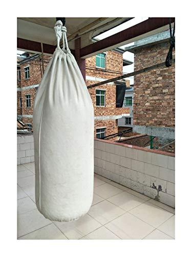 NGHSDO Boxsack Stehend 60/80/100/120/150 / 200cm Verdickter Leinwand Lochsack Ungefüllte Hochleistungsboxbeutel Muay Thai Boxsack Sandsack 1 (Color : 100cm)