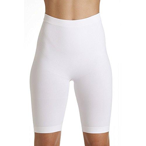 Camille Braga pantalón Larga Moldeadora - Reductor de los Muslos - Sin Costuras - Blanco X-Large