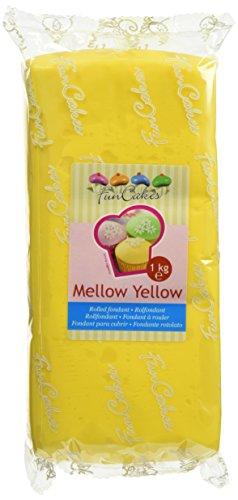 FunCakes Fondant Mellow Yellow: Einfach zu Verwenden, Glatt, Elastisch, Weich und Schmeidig, Perfekt zum Dekorieren von Torten, Halal, Koscher und Glutenfrei. 1 kg