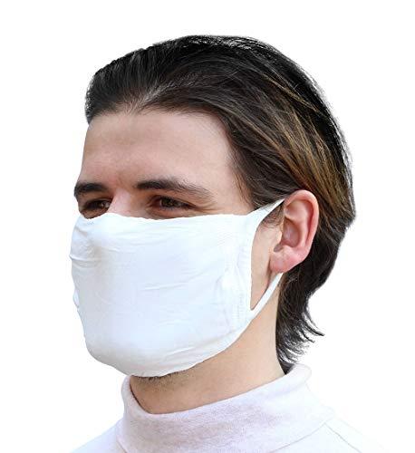 Sedax ® 5 x Innovative Silber-Ion Stoffmaske 2-Lagig Extrem Atmungsaktiv & Waschbar | Mundschutz-Maske für Damen und Herren | Behelfsmaske Mund und Nasenschutz Schutzmaske